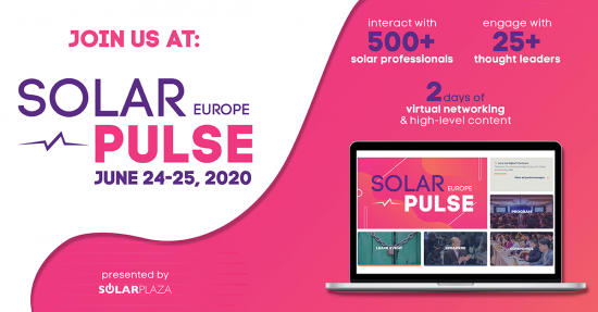 Join Apricum at Solar Pulse Europe, June 24-25, 2020, a fully virtual event