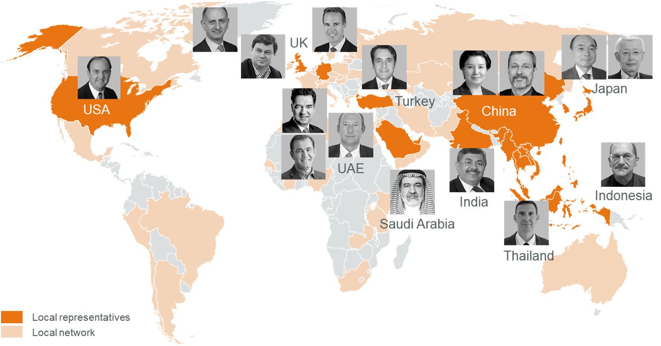 Apricum has an impressive global network with local representatives around the world